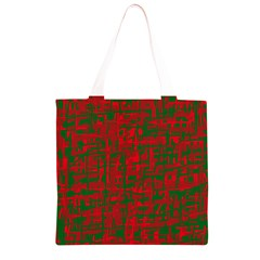 Green and red pattern Grocery Light Tote Bag