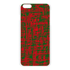 Green and red pattern Apple Seamless iPhone 6 Plus/6S Plus Case (Transparent)
