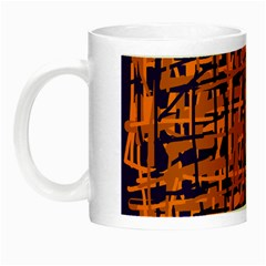 Blue and orange decorative pattern Night Luminous Mugs