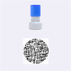 Blue and orange decorative pattern Rubber Round Stamps (Small)