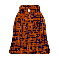 Blue and orange decorative pattern Bell Ornament (2 Sides)