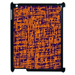 Blue and orange decorative pattern Apple iPad 2 Case (Black)