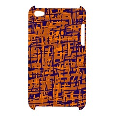 Blue and orange decorative pattern Apple iPod Touch 4