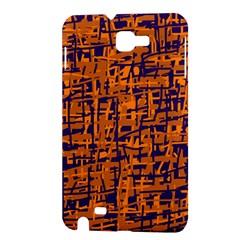 Blue and orange decorative pattern Samsung Galaxy Note 1 Hardshell Case