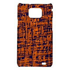 Blue and orange decorative pattern Samsung Galaxy S2 i9100 Hardshell Case