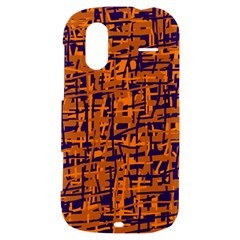 Blue and orange decorative pattern HTC Amaze 4G Hardshell Case