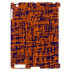 Blue and orange decorative pattern Apple iPad 2 Hardshell Case (Compatible with Smart Cover)