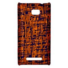 Blue and orange decorative pattern HTC 8X