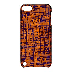 Blue and orange decorative pattern Apple iPod Touch 5 Hardshell Case with Stand