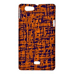 Blue and orange decorative pattern Sony Xperia Miro