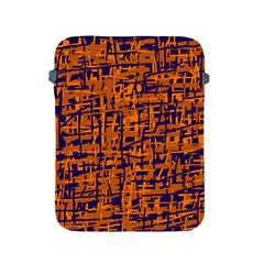 Blue and orange decorative pattern Apple iPad 2/3/4 Protective Soft Cases
