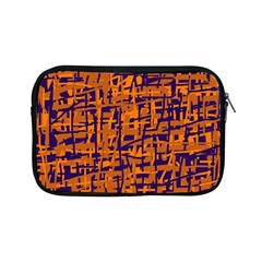 Blue and orange decorative pattern Apple iPad Mini Zipper Cases