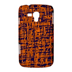 Blue and orange decorative pattern Samsung Galaxy Duos I8262 Hardshell Case