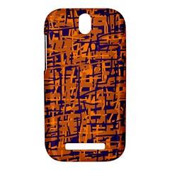 Blue and orange decorative pattern HTC One SV Hardshell Case