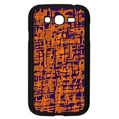 Blue and orange decorative pattern Samsung Galaxy Grand DUOS I9082 Case (Black)