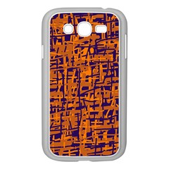 Blue and orange decorative pattern Samsung Galaxy Grand DUOS I9082 Case (White)