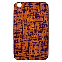 Blue and orange decorative pattern Samsung Galaxy Tab 3 (8 ) T3100 Hardshell Case