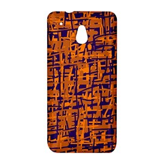 Blue and orange decorative pattern HTC One Mini (601e) M4 Hardshell Case