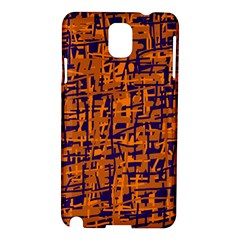 Blue and orange decorative pattern Samsung Galaxy Note 3 N9005 Hardshell Case