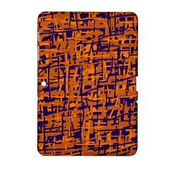 Blue and orange decorative pattern Samsung Galaxy Tab 2 (10.1 ) P5100 Hardshell Case