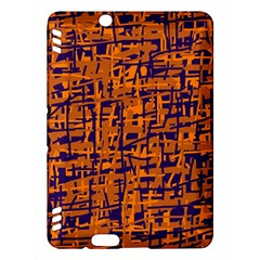Blue and orange decorative pattern Kindle Fire HDX Hardshell Case