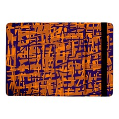 Blue and orange decorative pattern Samsung Galaxy Tab Pro 10.1  Flip Case