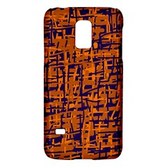 Blue and orange decorative pattern Galaxy S5 Mini