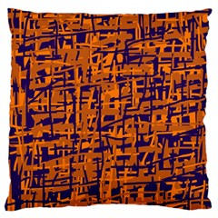 Blue and orange decorative pattern Standard Flano Cushion Case (Two Sides)