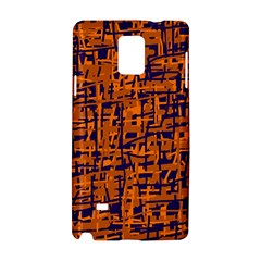 Blue and orange decorative pattern Samsung Galaxy Note 4 Hardshell Case