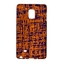 Blue and orange decorative pattern Galaxy Note Edge