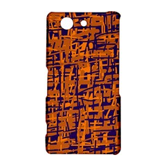 Blue and orange decorative pattern Sony Xperia Z3 Compact
