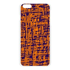 Blue and orange decorative pattern Apple Seamless iPhone 6 Plus/6S Plus Case (Transparent)