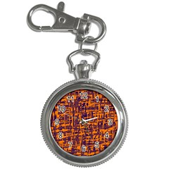 Orange and blue pattern Key Chain Watches
