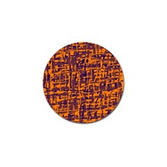 Orange and blue pattern Golf Ball Marker (4 pack)