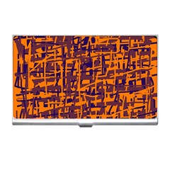 Orange and blue pattern Business Card Holders