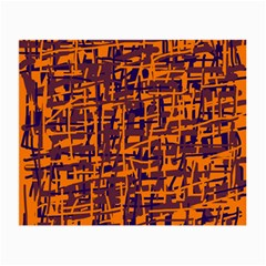 Orange and blue pattern Small Glasses Cloth (2-Side)