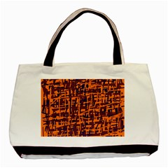 Orange and blue pattern Basic Tote Bag (Two Sides)