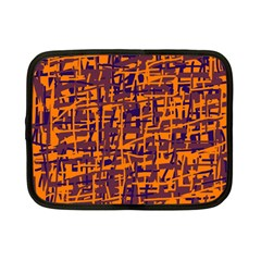 Orange and blue pattern Netbook Case (Small)