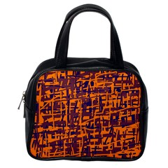 Orange and blue pattern Classic Handbags (One Side)