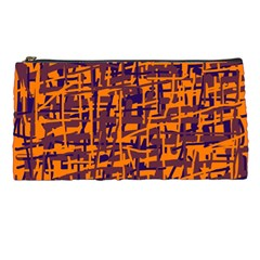Orange and blue pattern Pencil Cases
