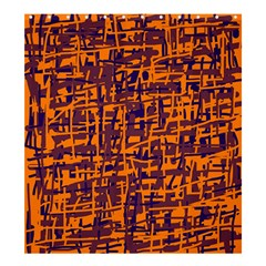 Orange and blue pattern Shower Curtain 66  x 72  (Large)