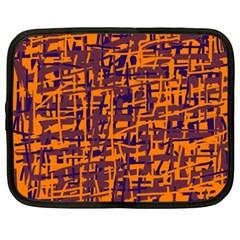 Orange and blue pattern Netbook Case (XXL)
