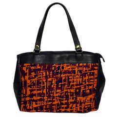 Orange and blue pattern Office Handbags