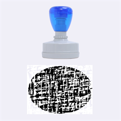 Orange and blue pattern Rubber Oval Stamps