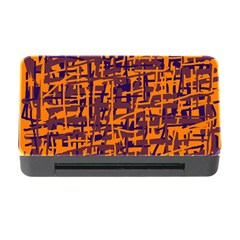 Orange and blue pattern Memory Card Reader with CF