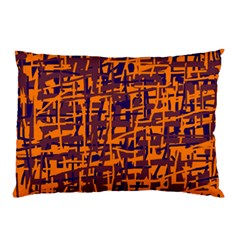 Orange and blue pattern Pillow Case (Two Sides)