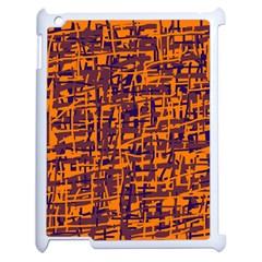 Orange and blue pattern Apple iPad 2 Case (White)