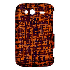 Orange and blue pattern HTC Wildfire S A510e Hardshell Case