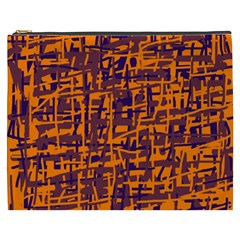 Orange and blue pattern Cosmetic Bag (XXXL)
