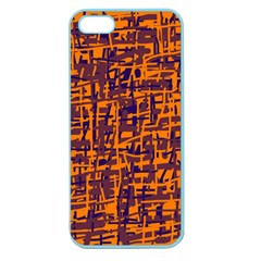 Orange and blue pattern Apple Seamless iPhone 5 Case (Color)